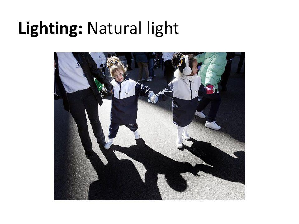 Lighting: Natural light