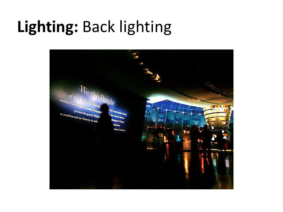 Lighting: Back lighting