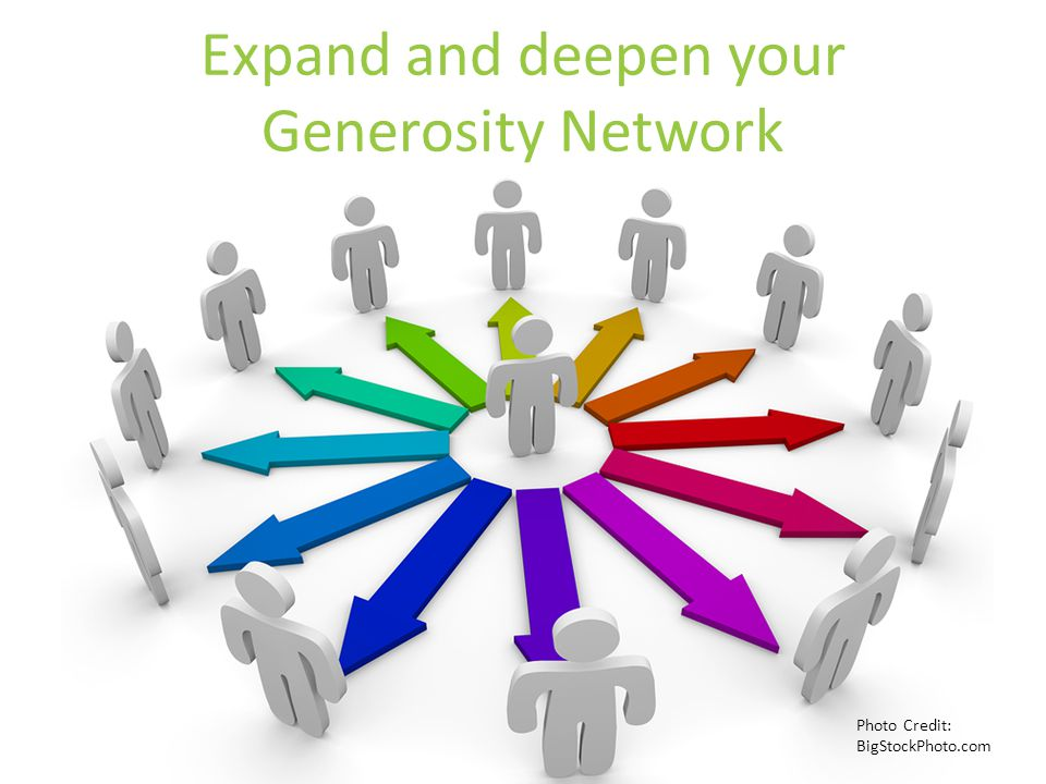Expand and deepen your Generosity Network Photo Credit: BigStockPhoto.com