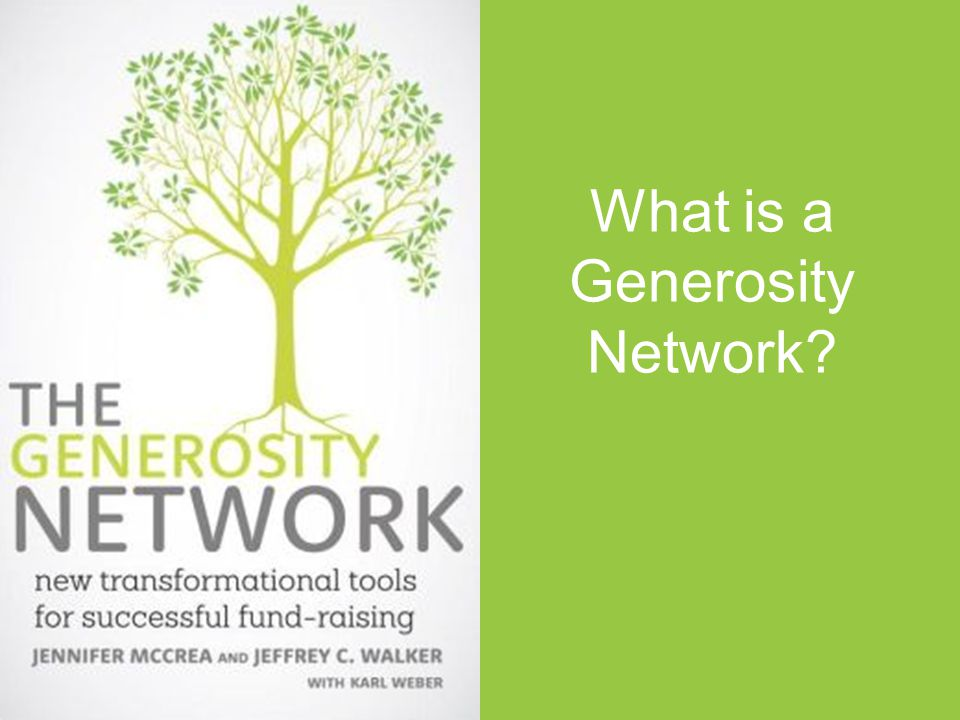 What is a Generosity Network?
