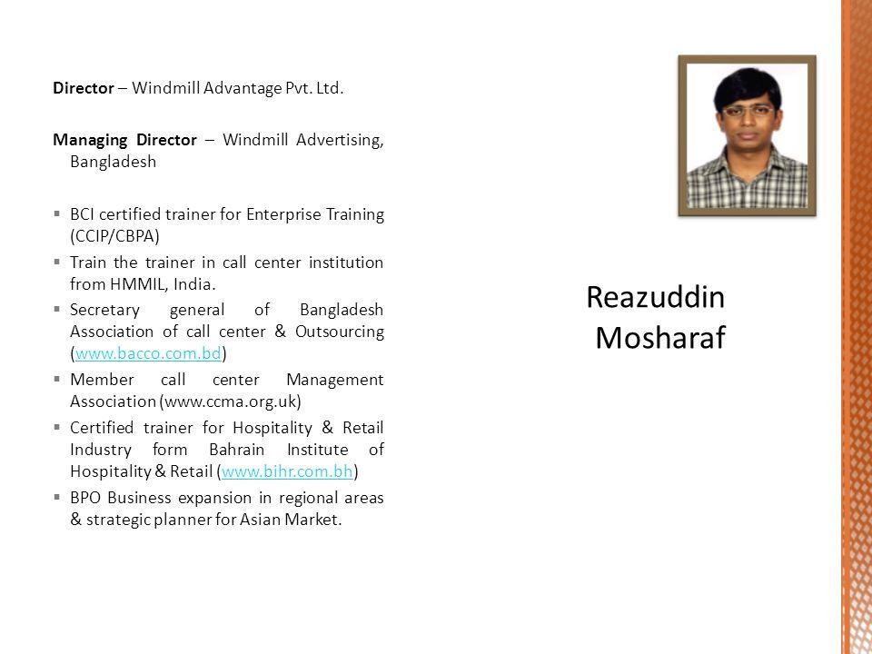 Director – Windmill Advantage Pvt.Ltd.