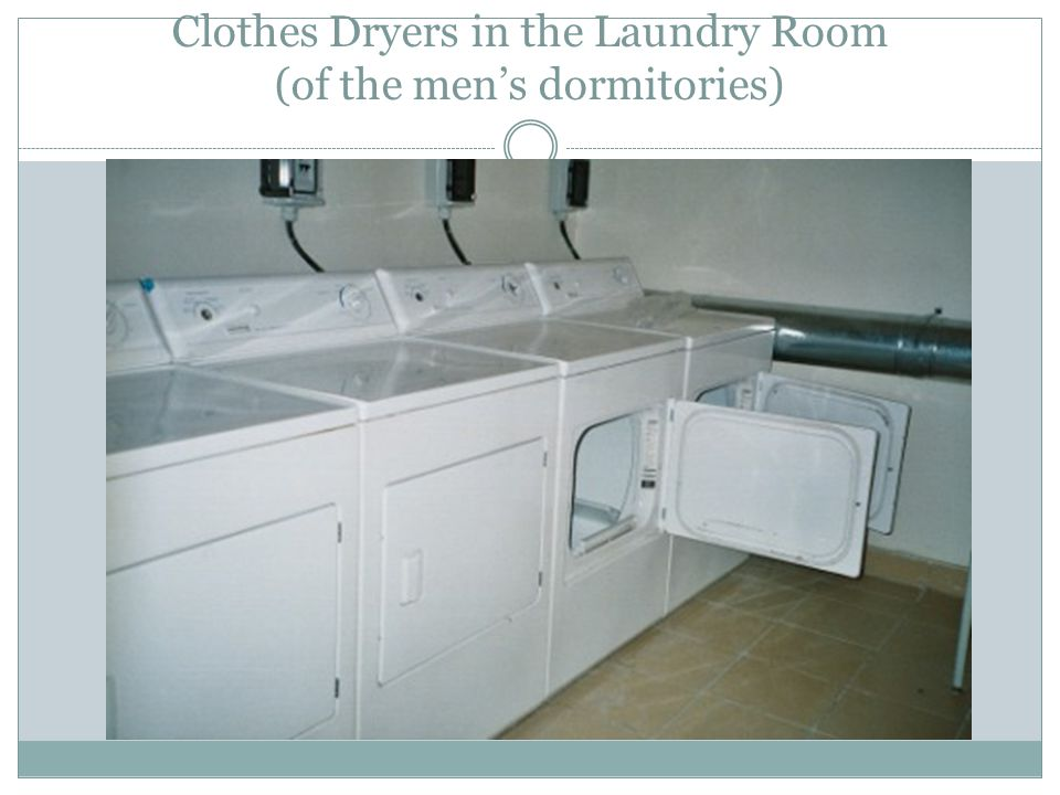 Clothes Dryers in the Laundry Room (of the mens dormitories)