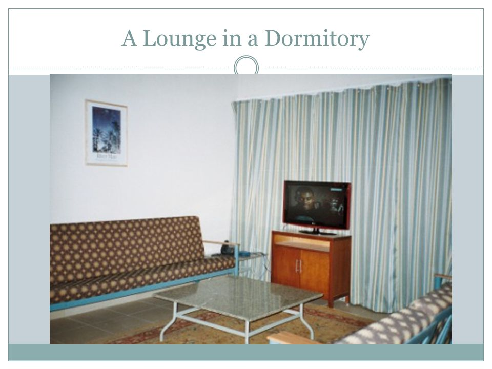 A Lounge in a Dormitory
