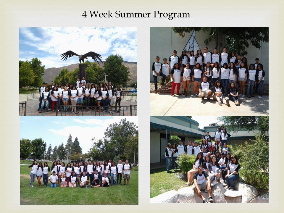 4 Week Summer Program
