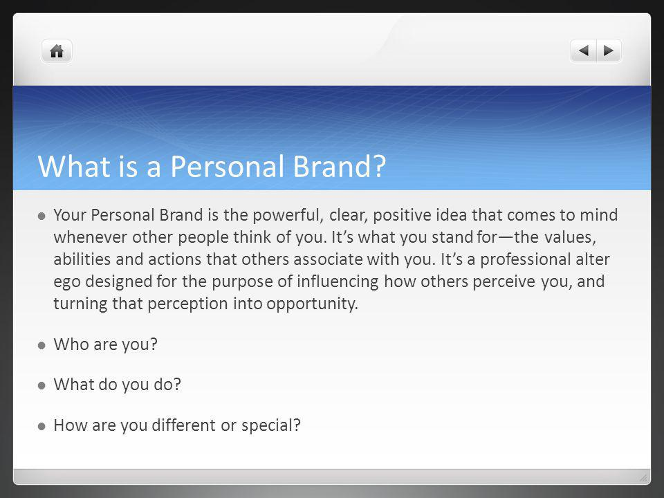 What is a Personal Brand.