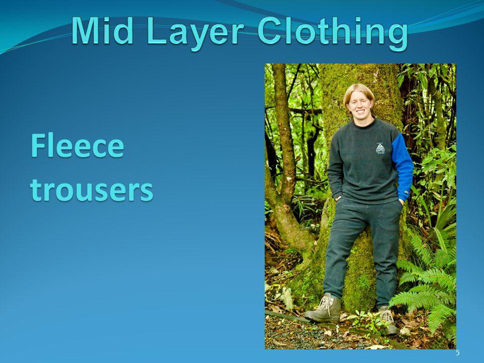5 Fleece trousers