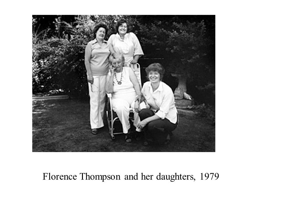 Florence Thompson and her daughters, 1979