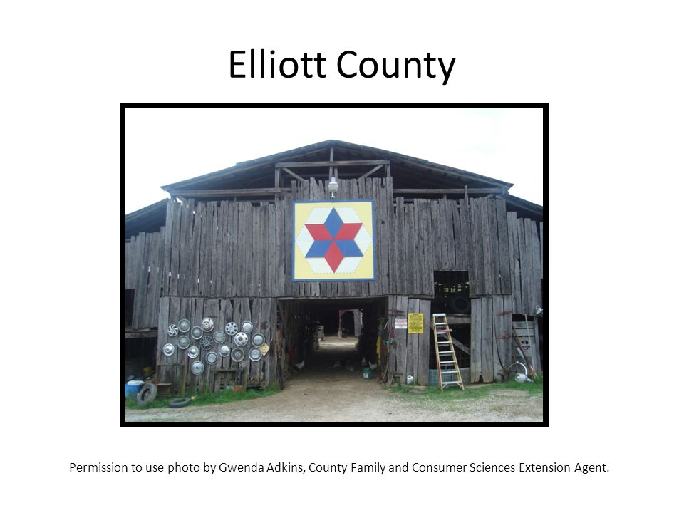 Elliott County Permission to use photo by Gwenda Adkins, County Family and Consumer Sciences Extension Agent.