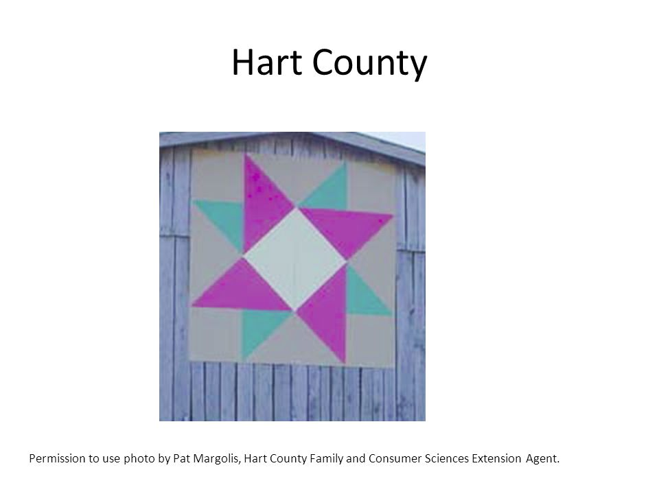 Hart County Permission to use photo by Pat Margolis, Hart County Family and Consumer Sciences Extension Agent.