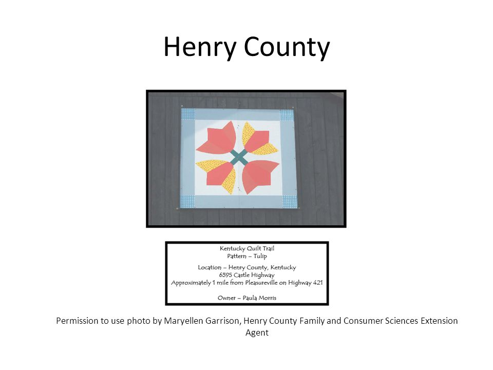 Henry County Permission to use photo by Maryellen Garrison, Henry County Family and Consumer Sciences Extension Agent