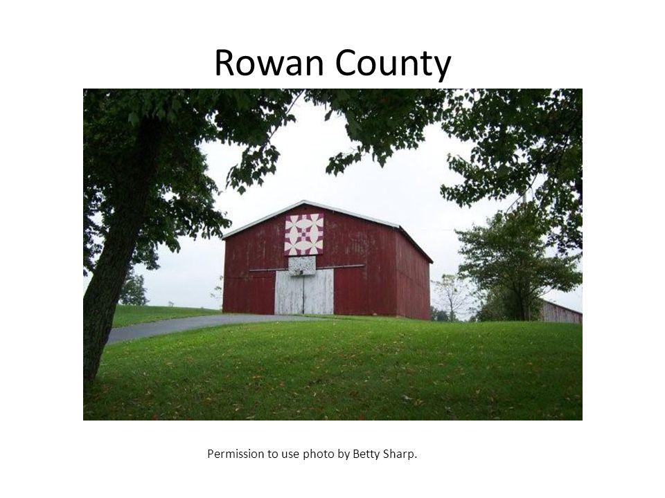Rowan County Permission to use photo by Betty Sharp.