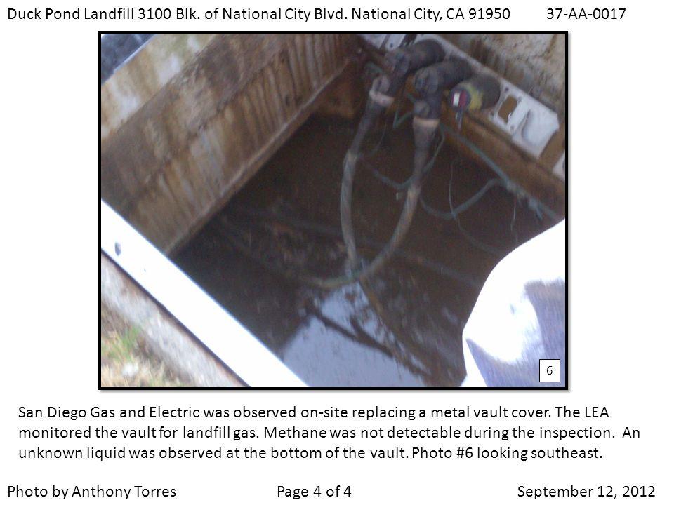 Duck Pond Landfill 3100 Blk. of National City Blvd.