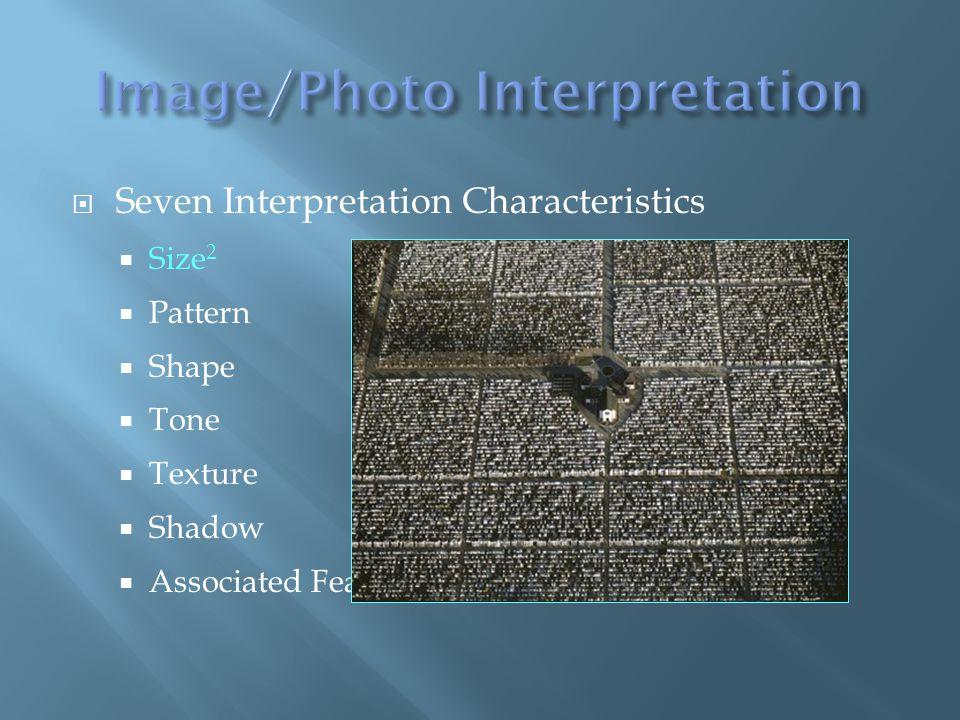 Seven Interpretation Characteristics Size 2 Pattern Shape Tone Texture Shadow Associated Features