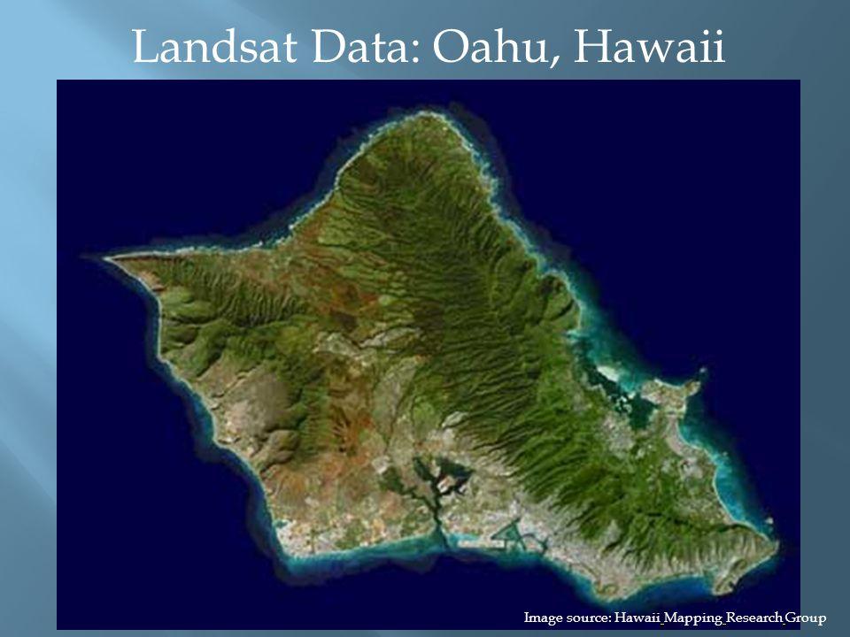 Landsat Data: Oahu, Hawaii Image source: Hawaii Mapping Research Group