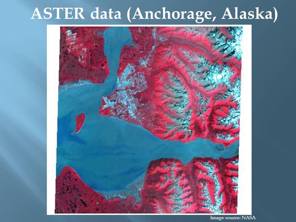 ASTER data (Anchorage, Alaska) Image source: NASA