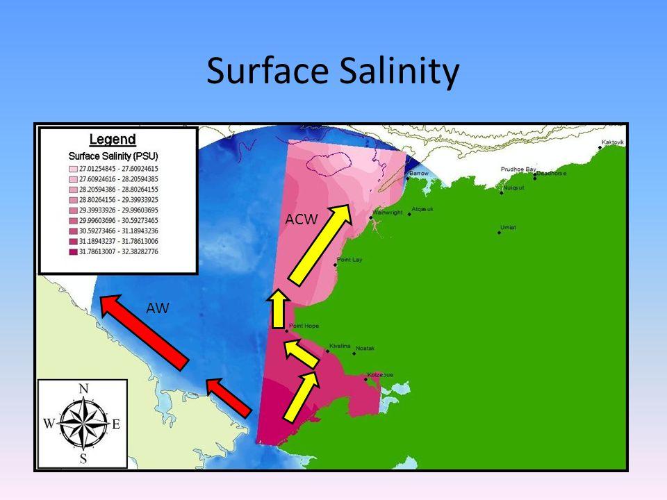 Surface Salinity AW ACW