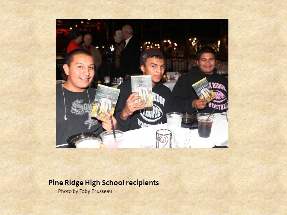 Pine Ridge High School recipients Photo by Toby Brusseau