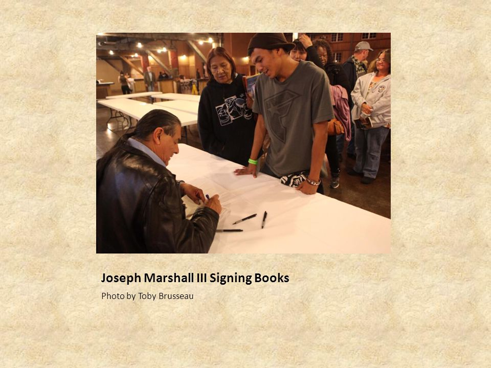Joseph Marshall III Signing Books Photo by Toby Brusseau