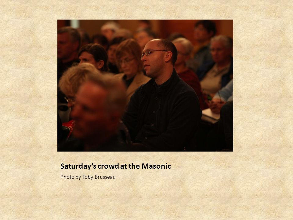 Saturdays crowd at the Masonic Photo by Toby Brusseau