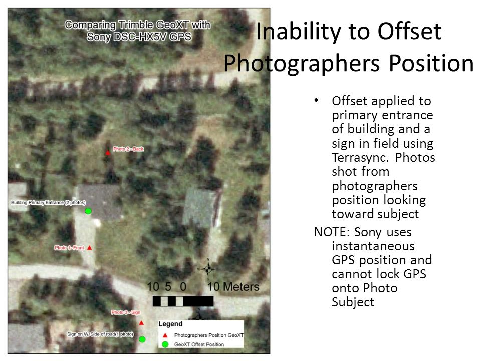 Inability to Offset Photographers Position Offset applied to primary entrance of building and a sign in field using Terrasync.