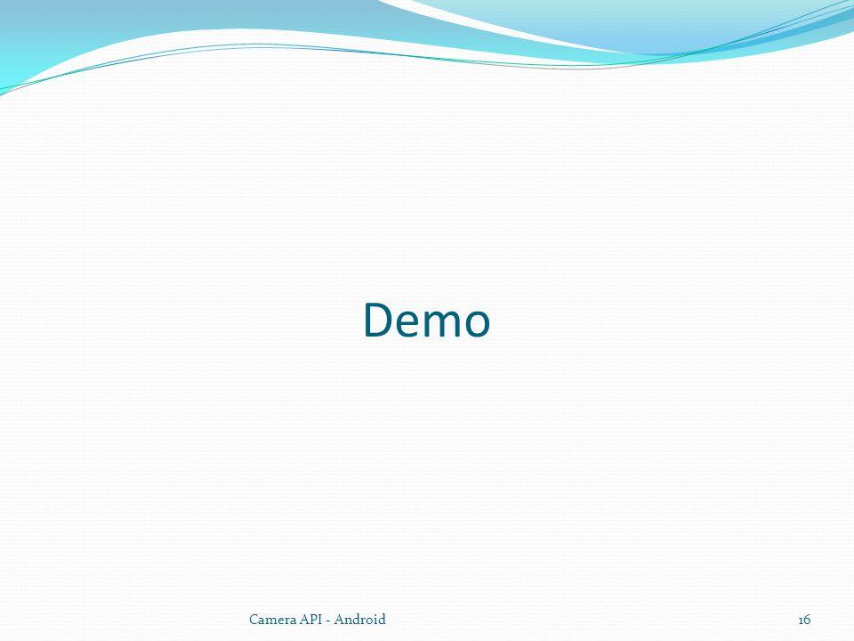 Demo Camera API - Android16