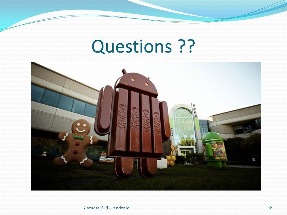 Questions Camera API - Android18