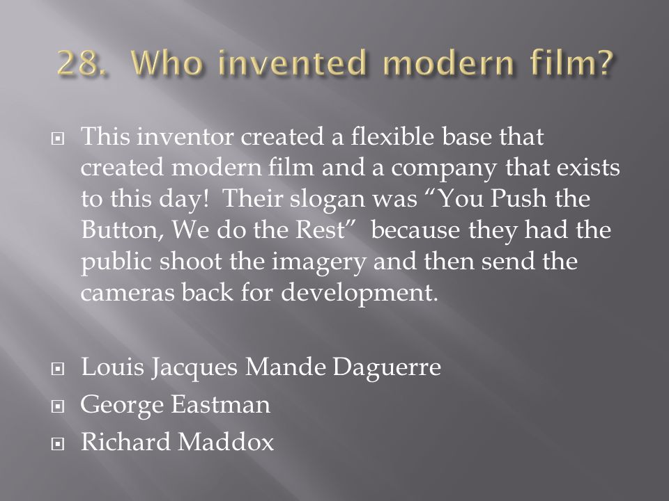This inventor created a flexible base that created modern film and a company that exists to this day.