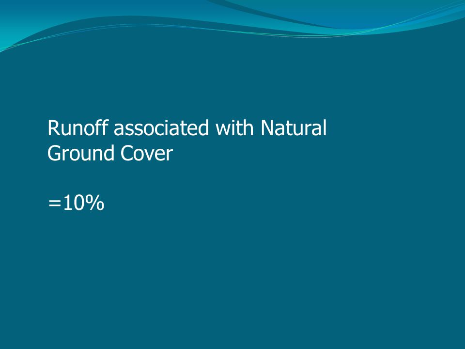 Runoff associated with Natural Ground Cover =10%