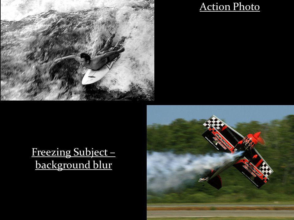 Action Photo Freezing Subject – background blur