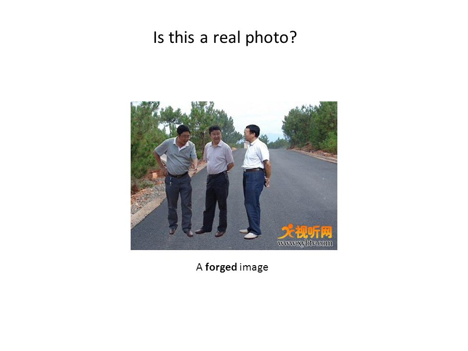 Is this a real photo? A forged image