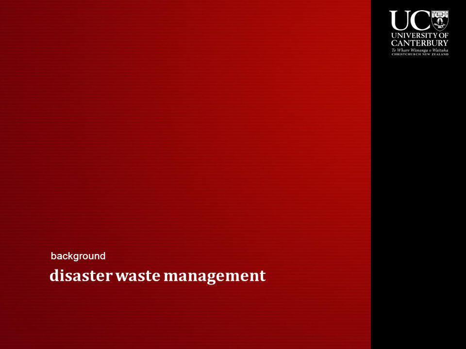 disaster waste management background