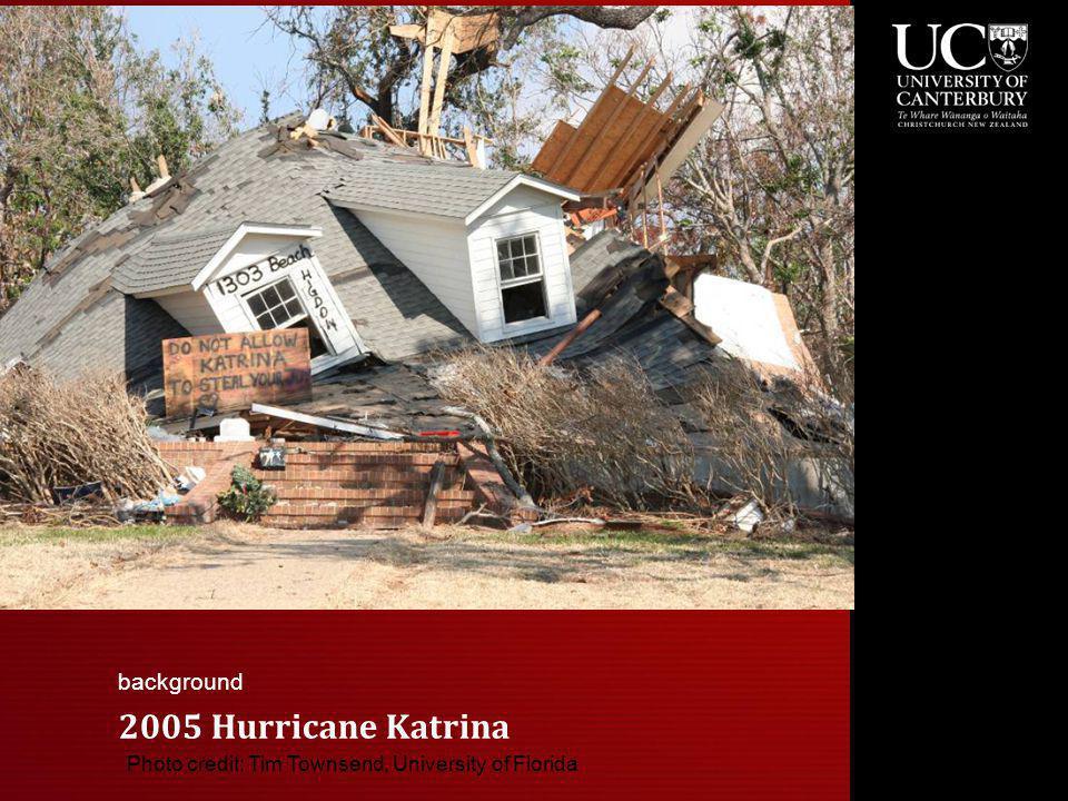 2005 Hurricane Katrina Photo credit: Tim Townsend, University of Florida background