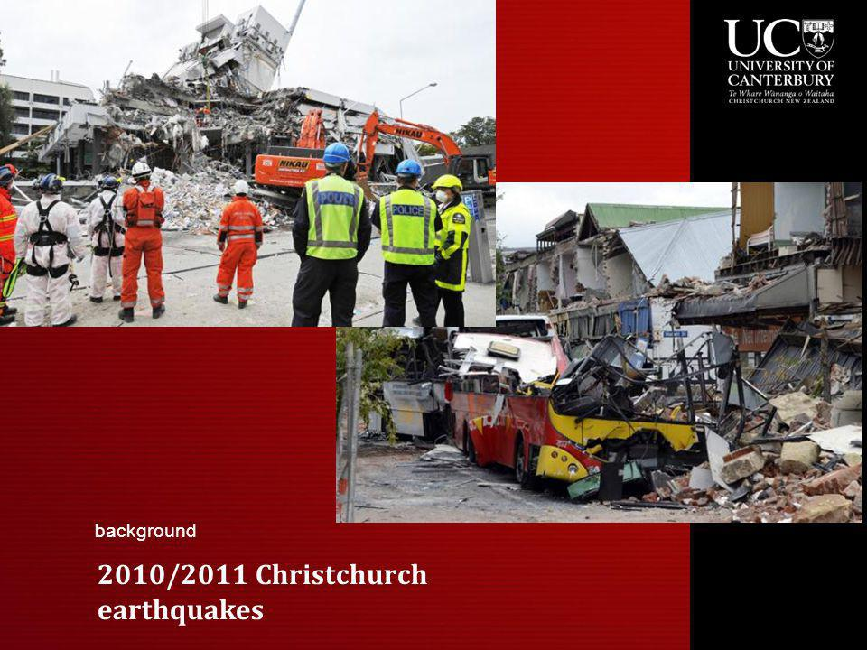 2010/2011 Christchurch earthquakes background