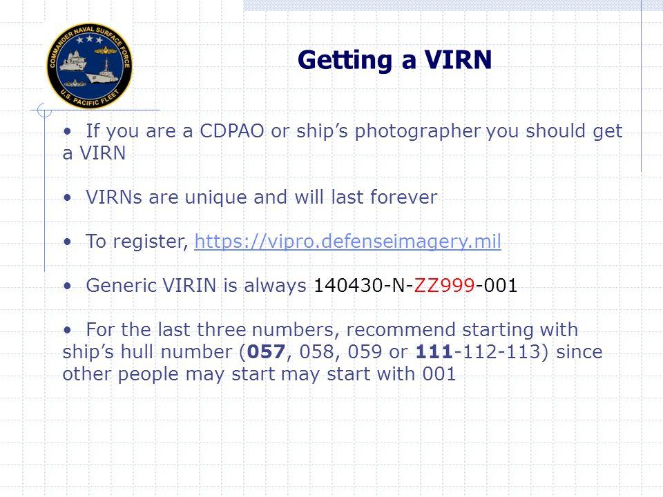 What is a VIRIN.