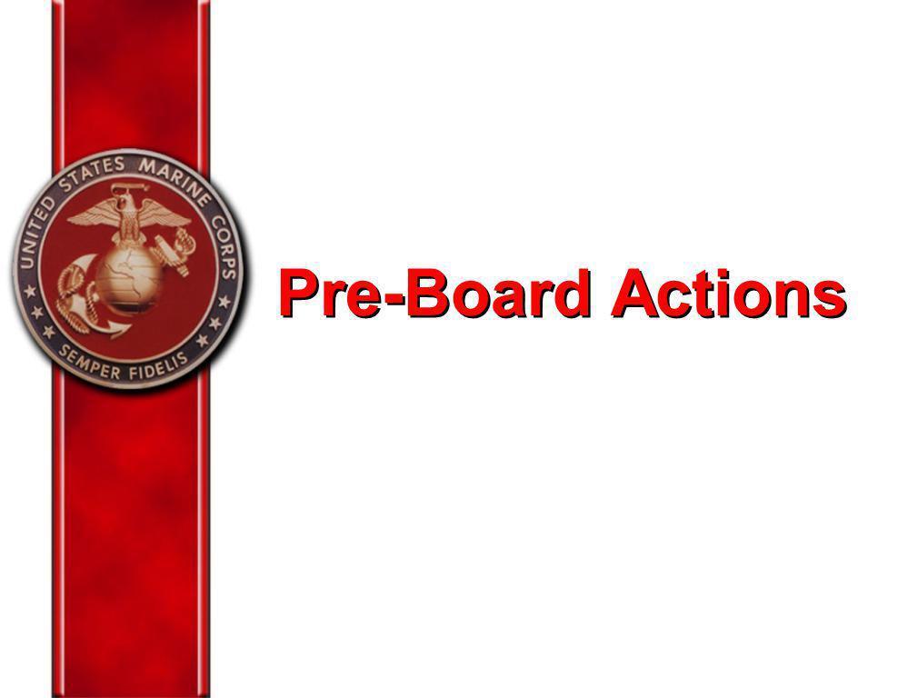Pre-Board Actions