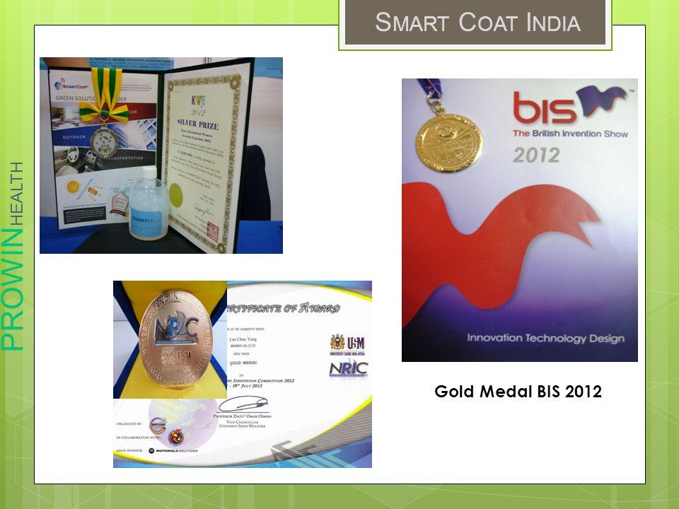 PROWIN HEALTH S MART C OAT I NDIA Gold Medal BIS 2012