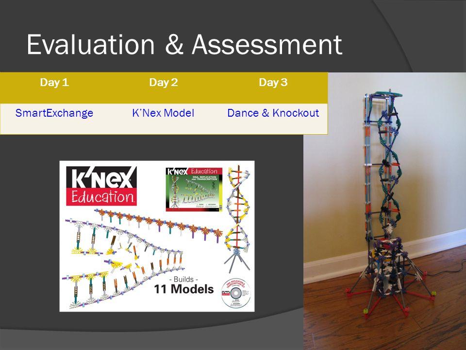 Evaluation & Assessment Day 1Day 2Day 3 SmartExchangeKNex ModelDance & Knockout