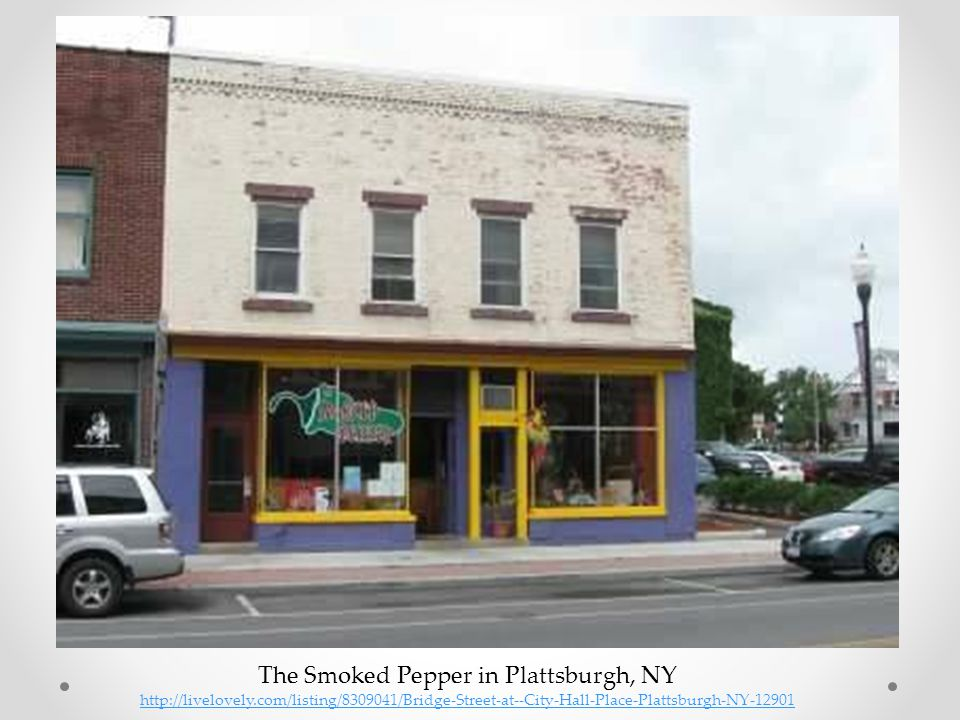The Smoked Pepper in Plattsburgh, NY http://livelovely.com/listing/8309041/Bridge-Street-at--City-Hall-Place-Plattsburgh-NY-12901