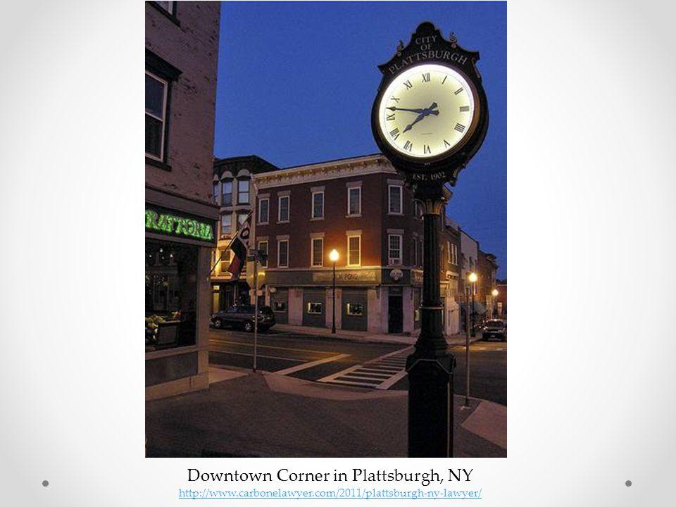 Downtown Corner in Plattsburgh, NY http://www.carbonelawyer.com/2011/plattsburgh-ny-lawyer/