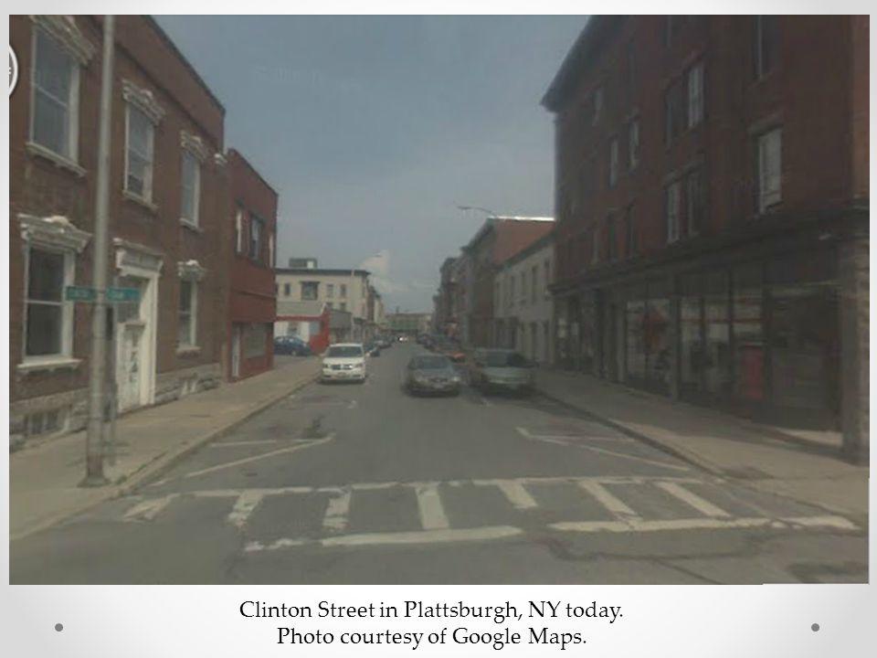 Clinton Street in Plattsburgh, NY today. Photo courtesy of Google Maps.