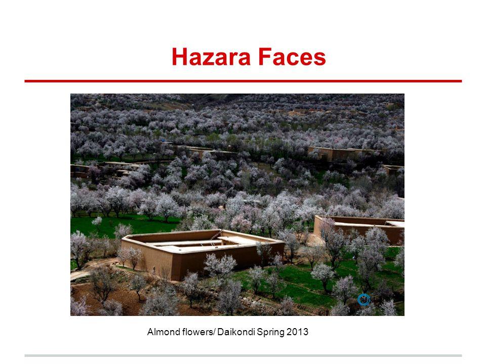 Hazara Faces Almond flowers/ Daikondi Spring 2013