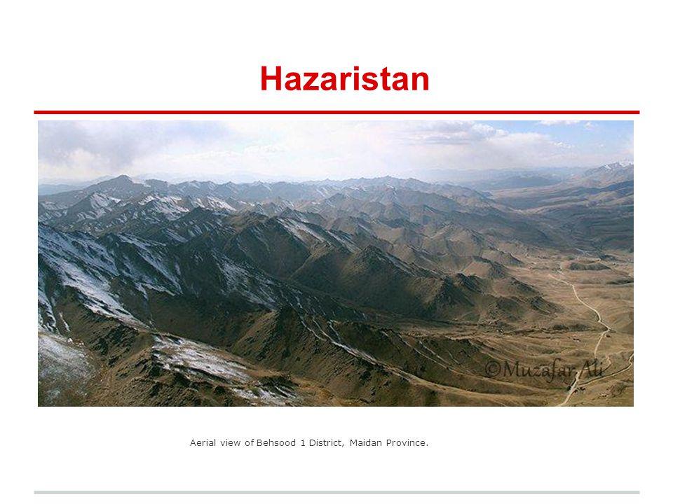 Hazaristan Aerial view of Behsood 1 District, Maidan Province.