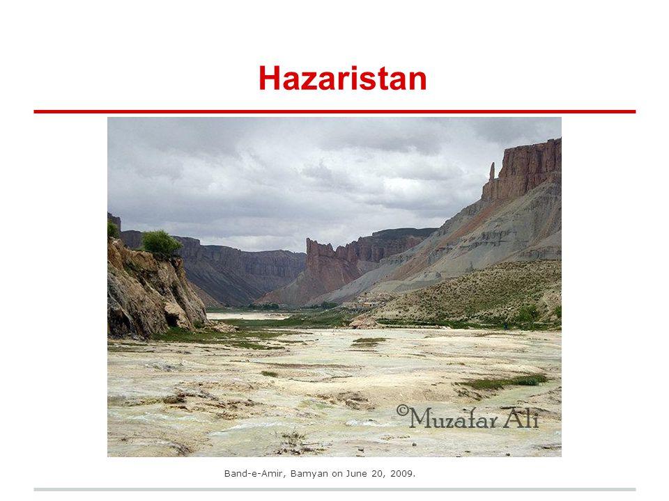 Hazaristan Band-e-Amir, Bamyan on June 20, 2009.