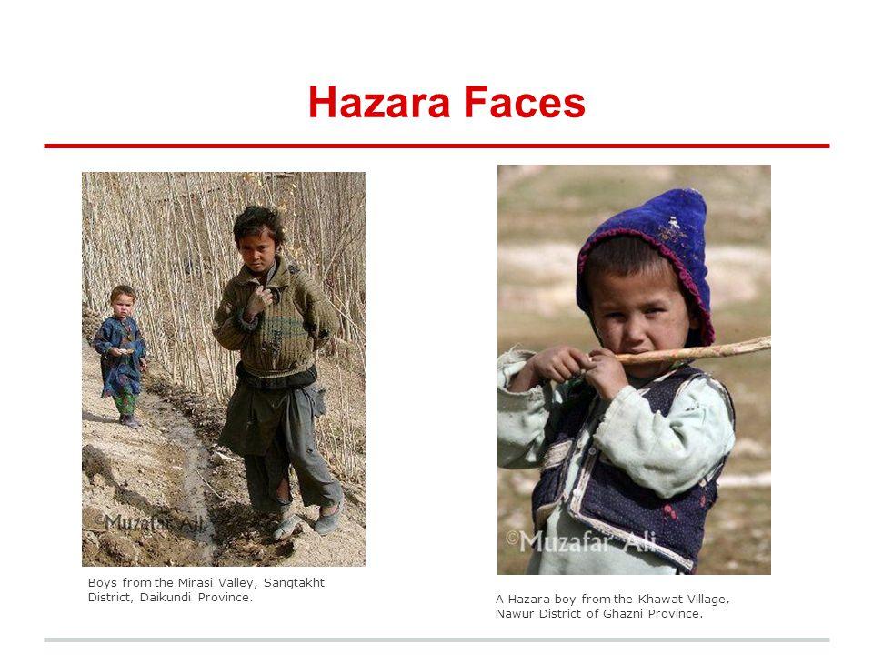 Hazara Faces Boys from the Mirasi Valley, Sangtakht District, Daikundi Province. A Hazara boy from the Khawat Village, Nawur District of Ghazni Provin