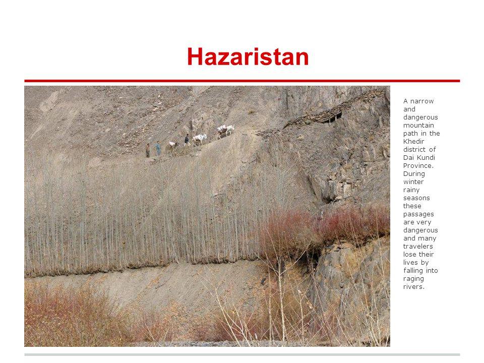 Hazara Faces A woman on horseback crosses Shah Tigh Pass, Khedir District Daikudi.