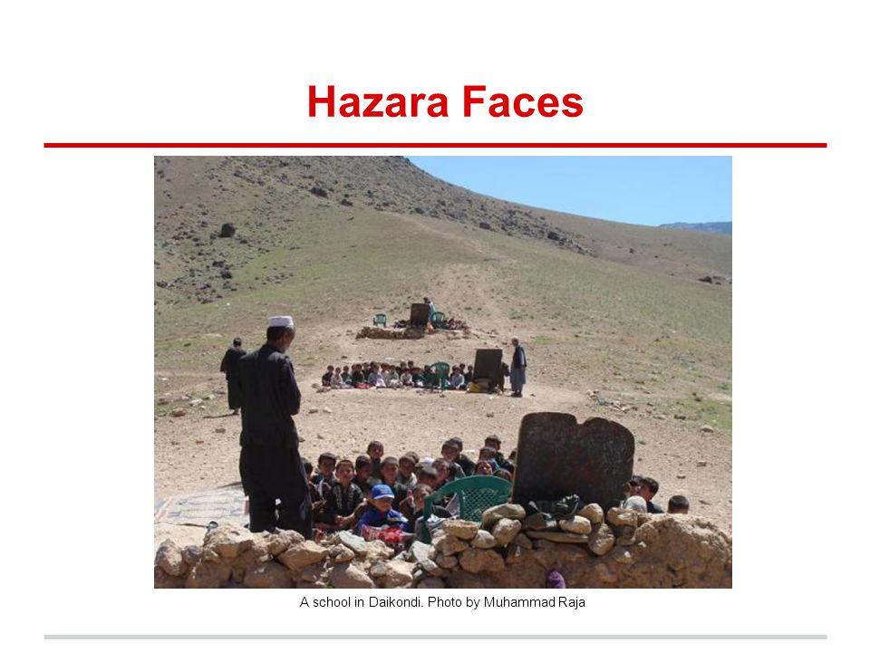 Hazara Faces A school in Daikondi. Photo by Muhammad Raja