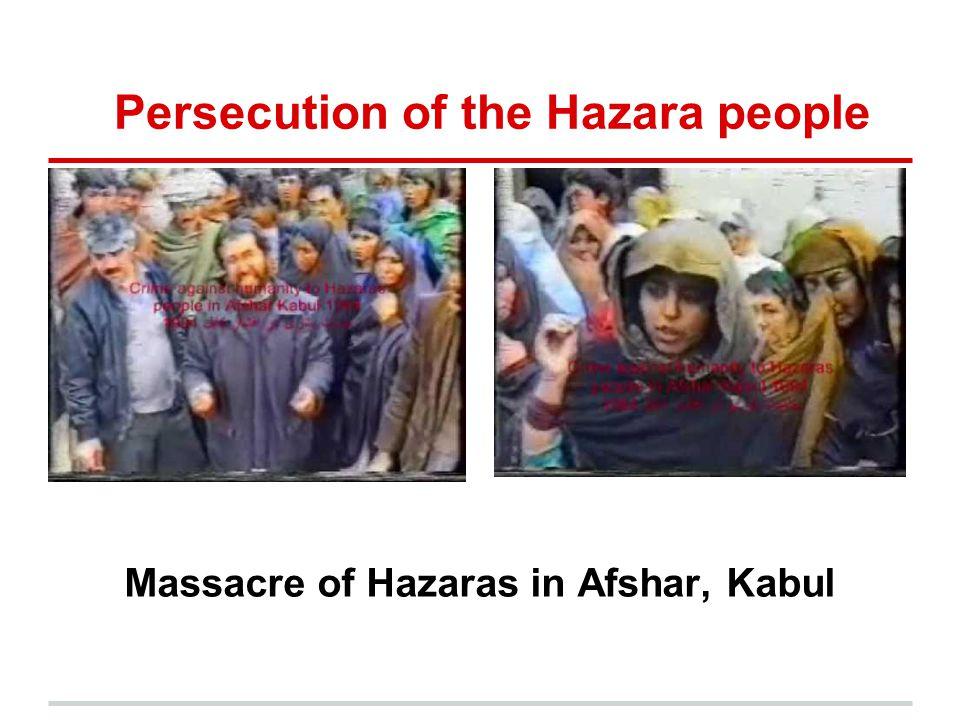 Persecution of the Hazara people Massacre of Hazaras in Afshar, Kabul