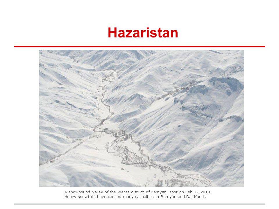 Hazaristan Bamyan in winter.