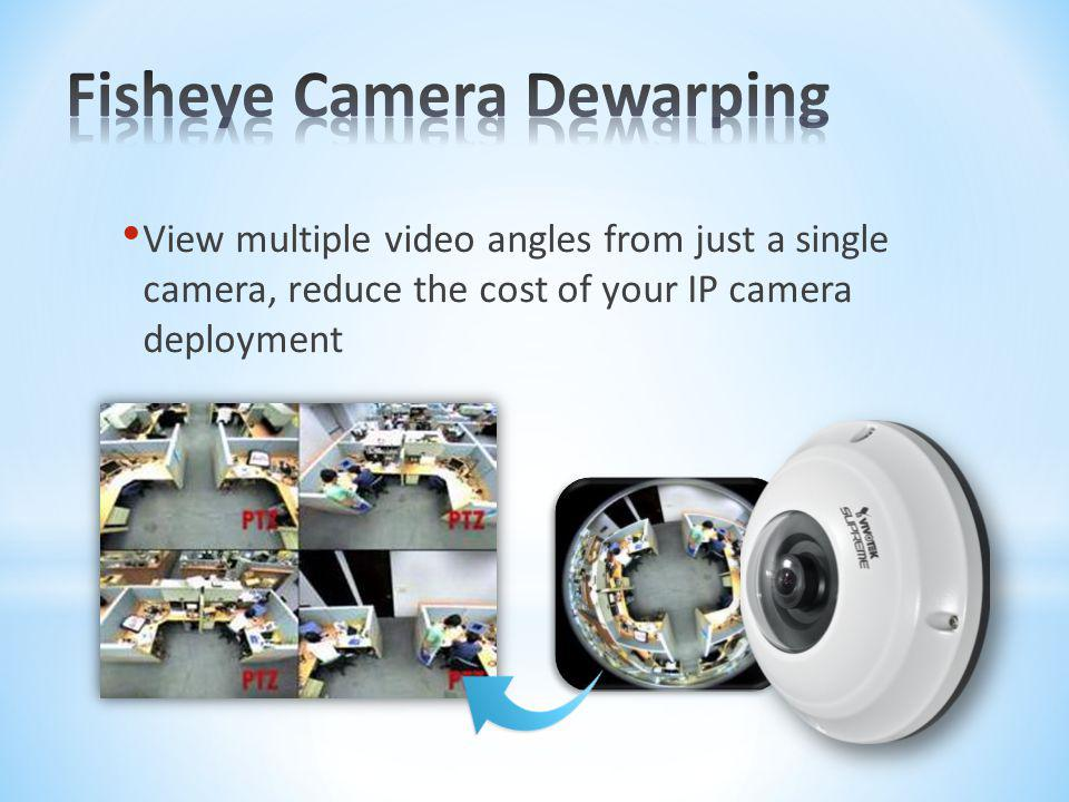 View multiple video angles from just a single camera, reduce the cost of your IP camera deployment