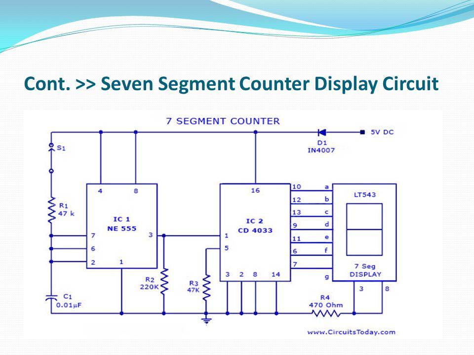 Cont. >> Seven Segment Counter Display Circuit